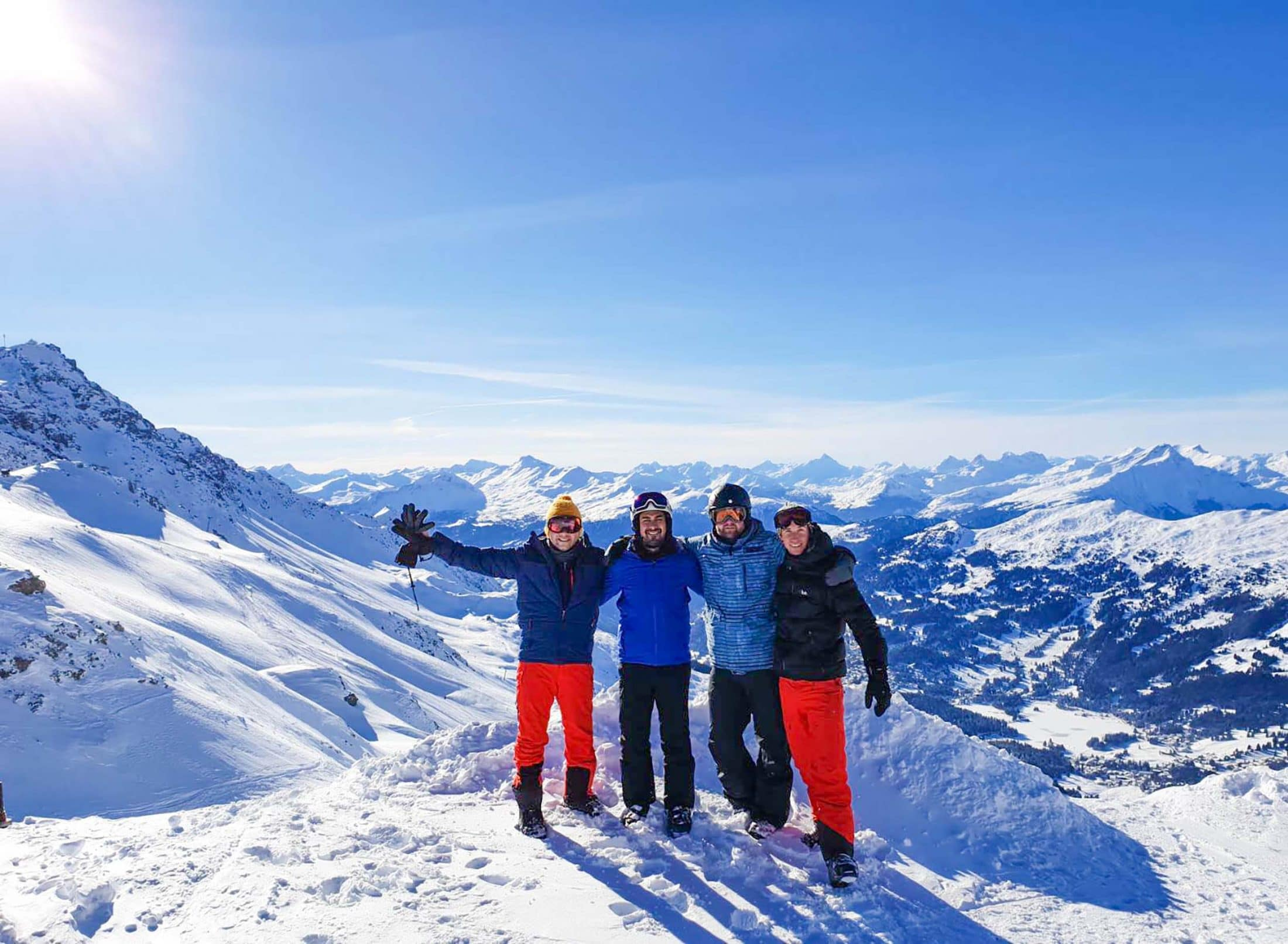 Spend the ski weekend with new and old friends from around the world