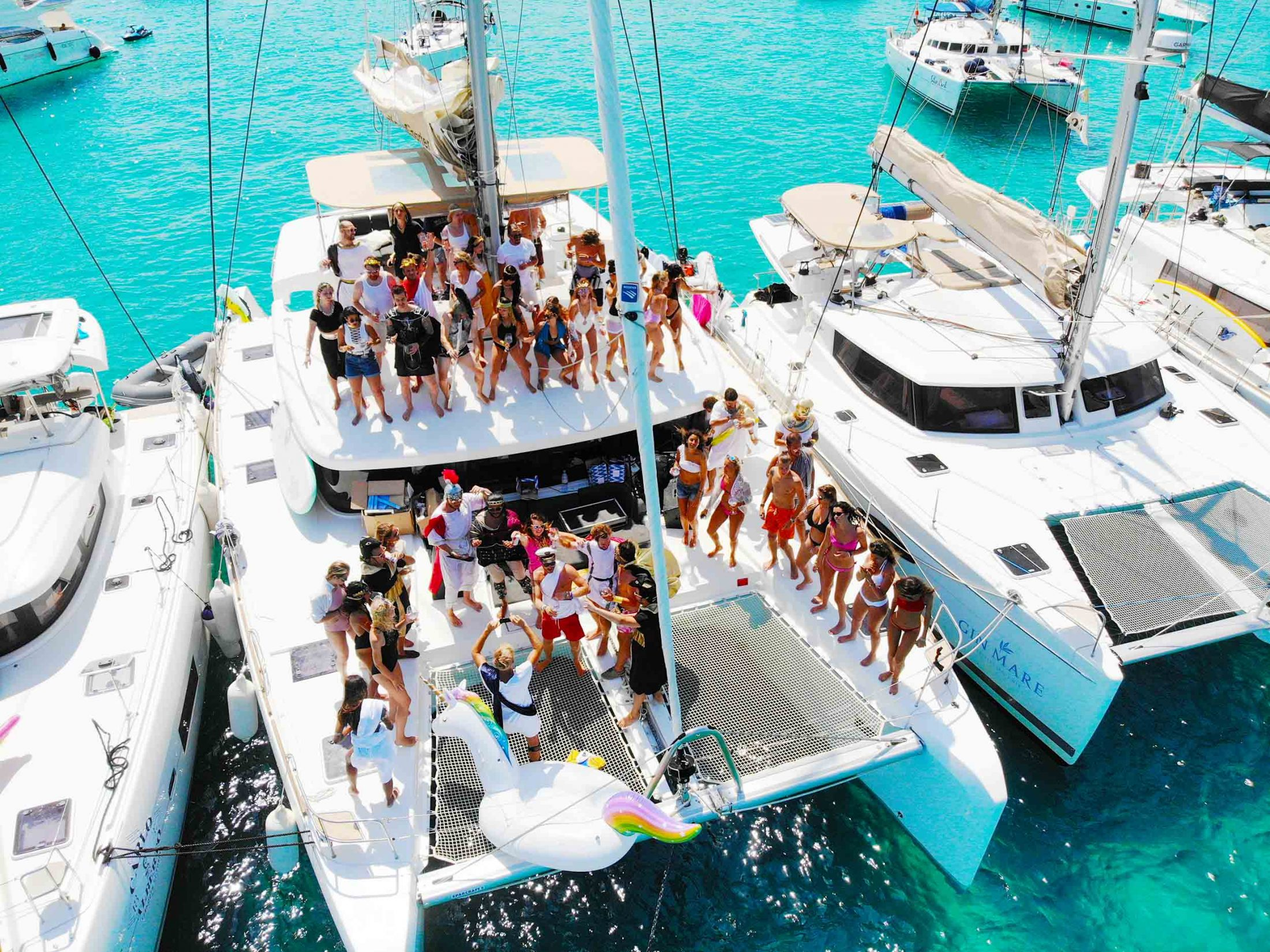 Sail and party together with friends from around the world