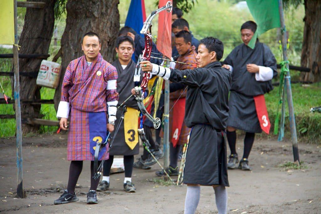 Bhutanese archer