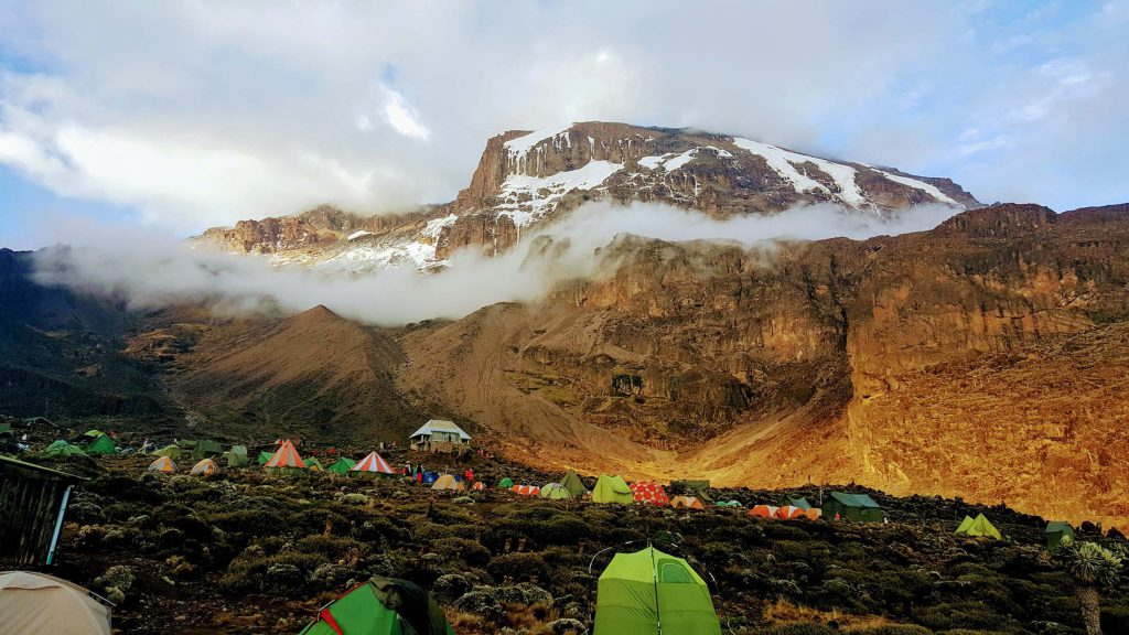 Tents at campsite Mt Kilimanjaro