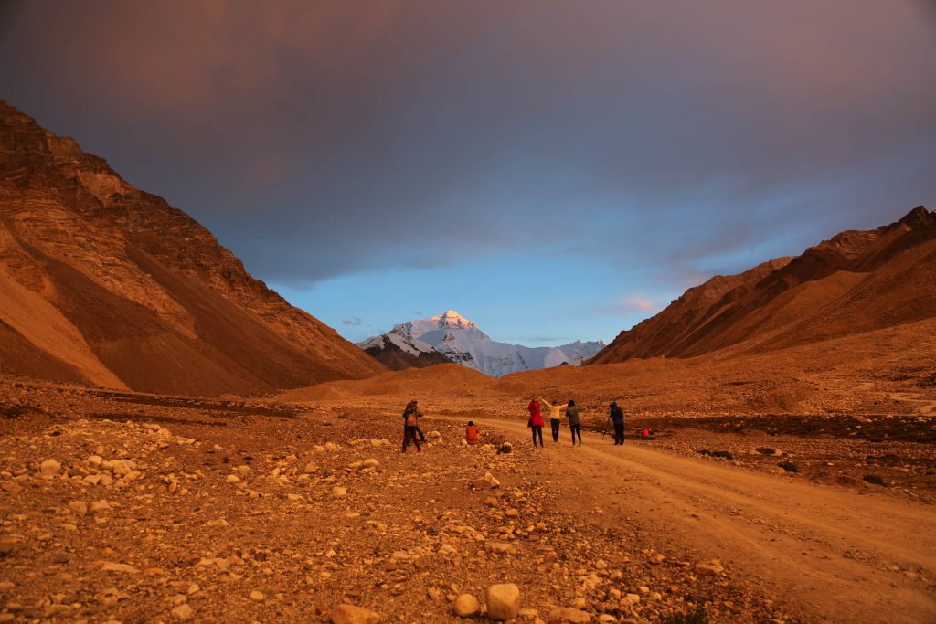 View of mount Everest while trekking for the everest Base Camp
