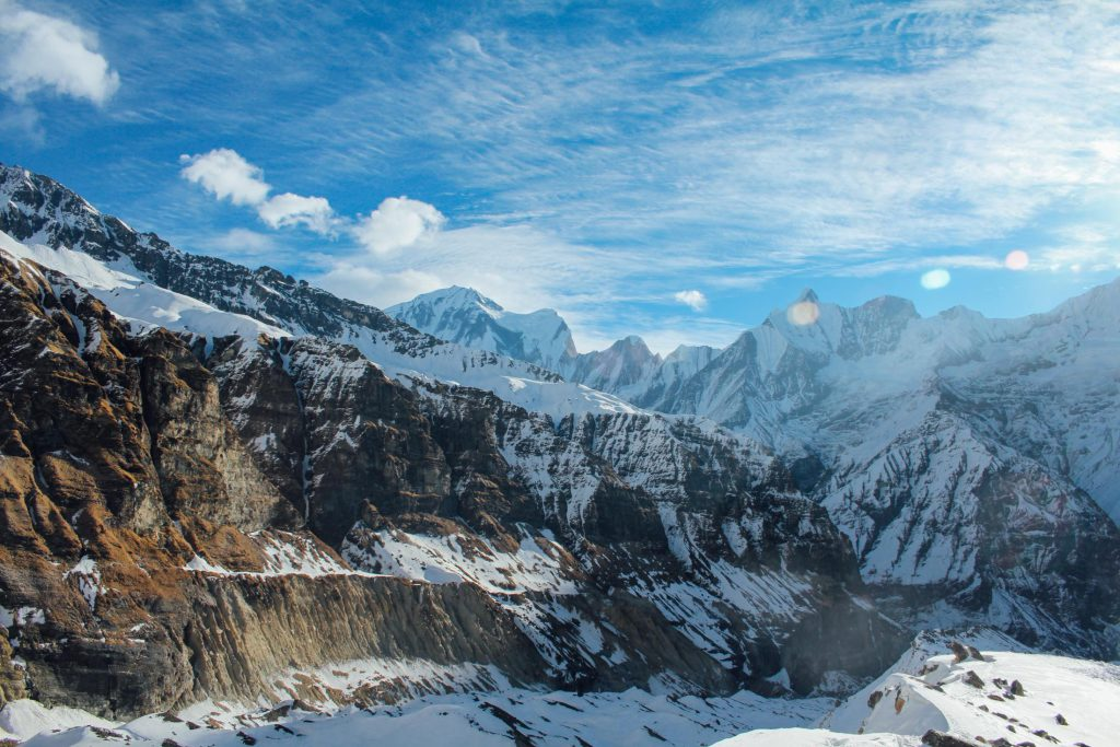 Stunning views on Annapurna circuit trek