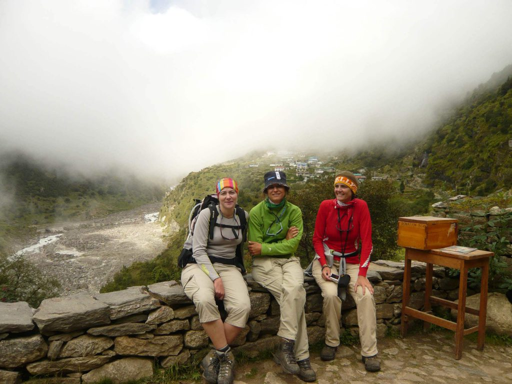 Happy hikers on the Everest Base Camp trek