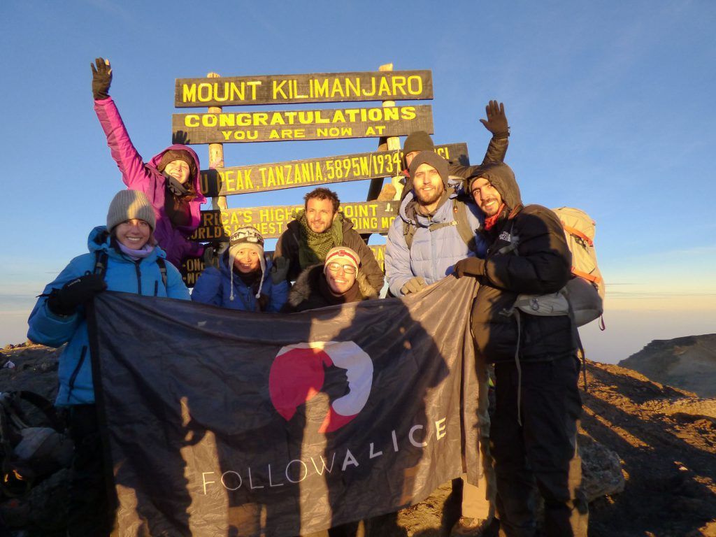 Kilimanjaro-summit-with-follow-alice-flag