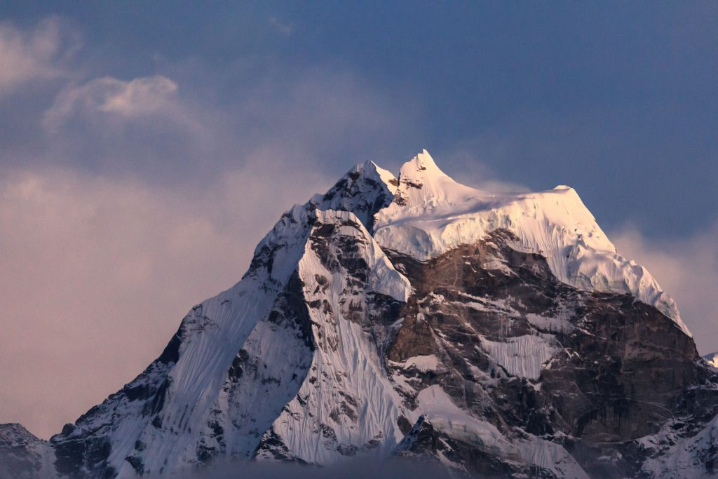 View of the Mount Everest peak