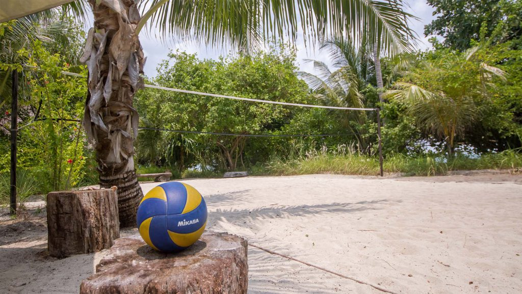 volleyball on a private island