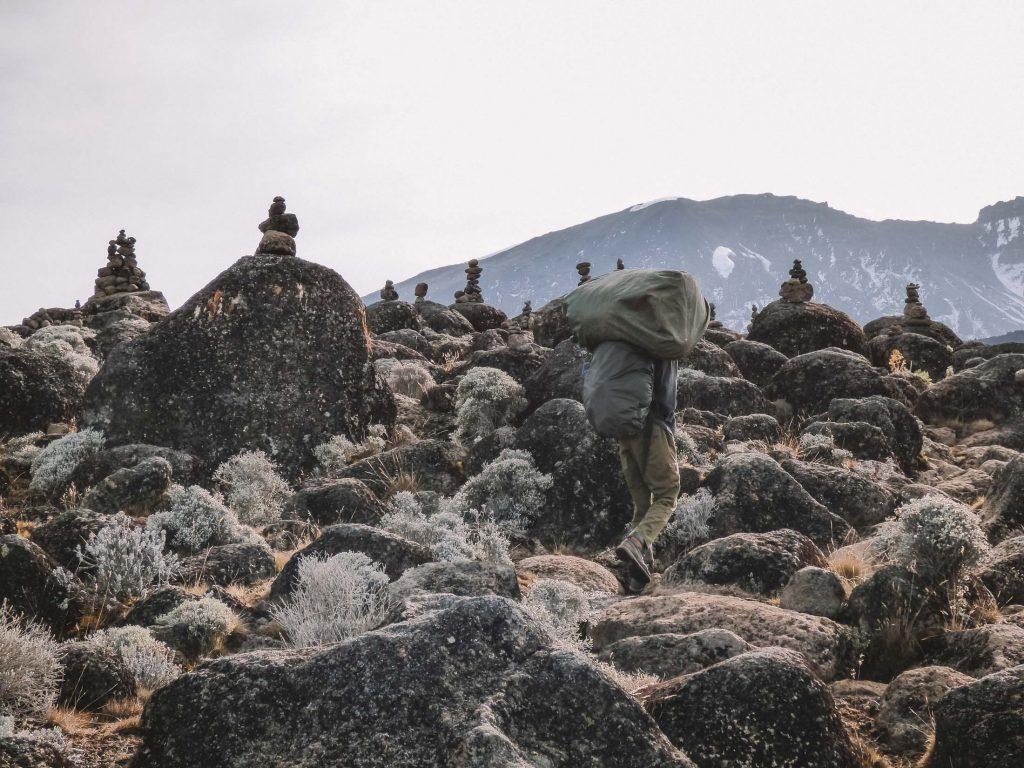 Kilimanjaro trek porter adventure climb