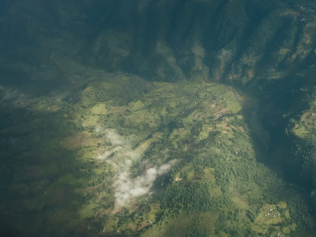 Beautiful valley as seen from the flight to lukla
