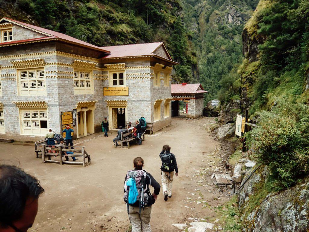 Everest Base Camp trek beside house