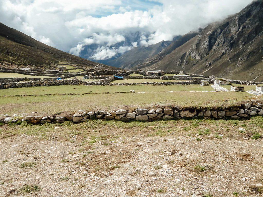 Fields near Everest Base Camp trek