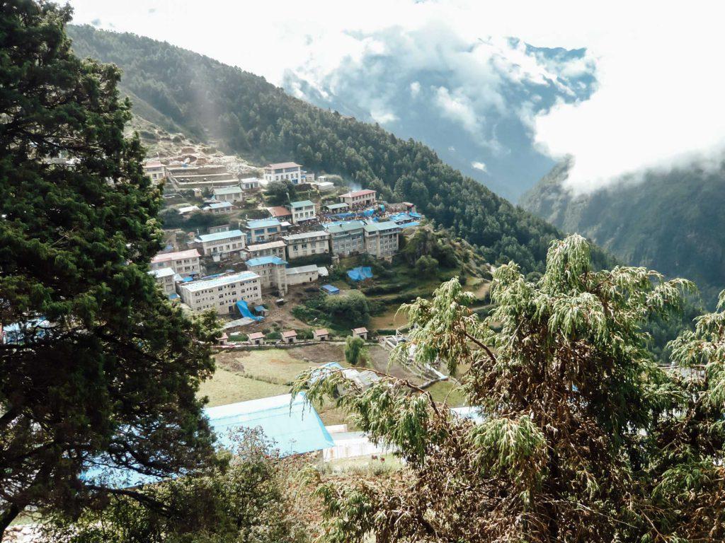 NAmche Bazaar in Himalayas