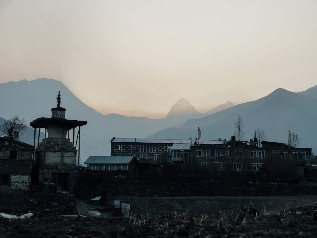 We stay in towns and villages of varying size and amenities during the Annapurna circuit trek