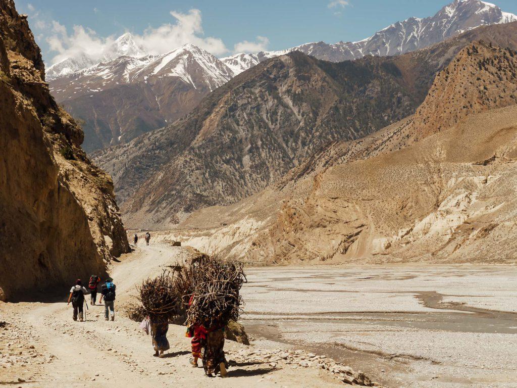 Annapurna mountains locals