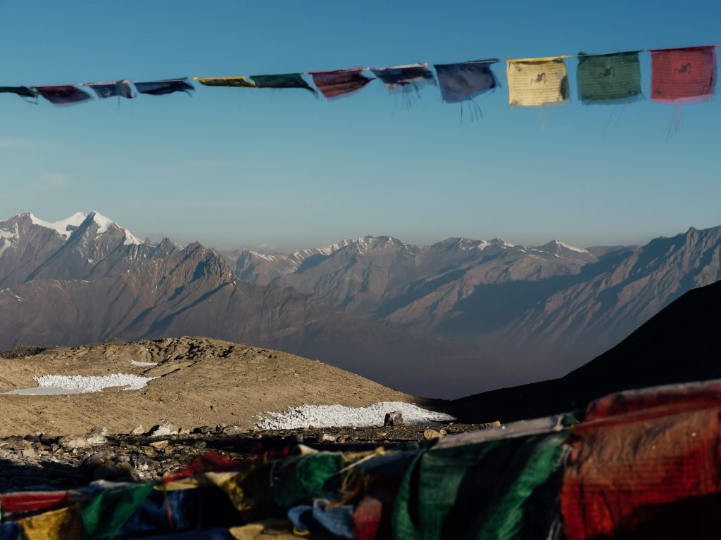 Prayer flags in Himalayas