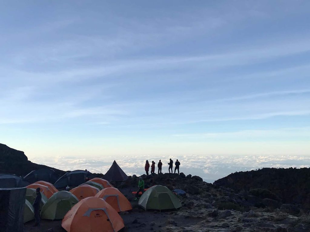 Tented camp on Kilimanjaro