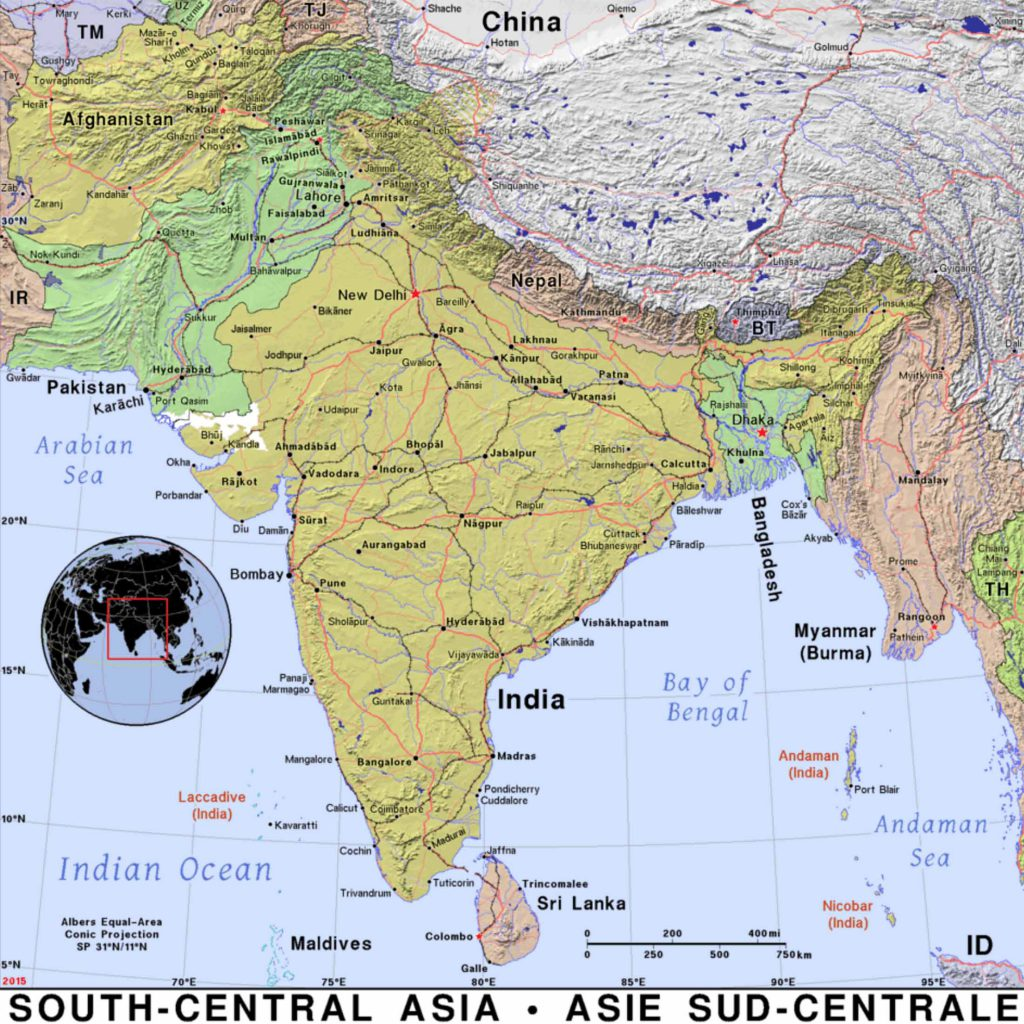 Map of south Central Asia