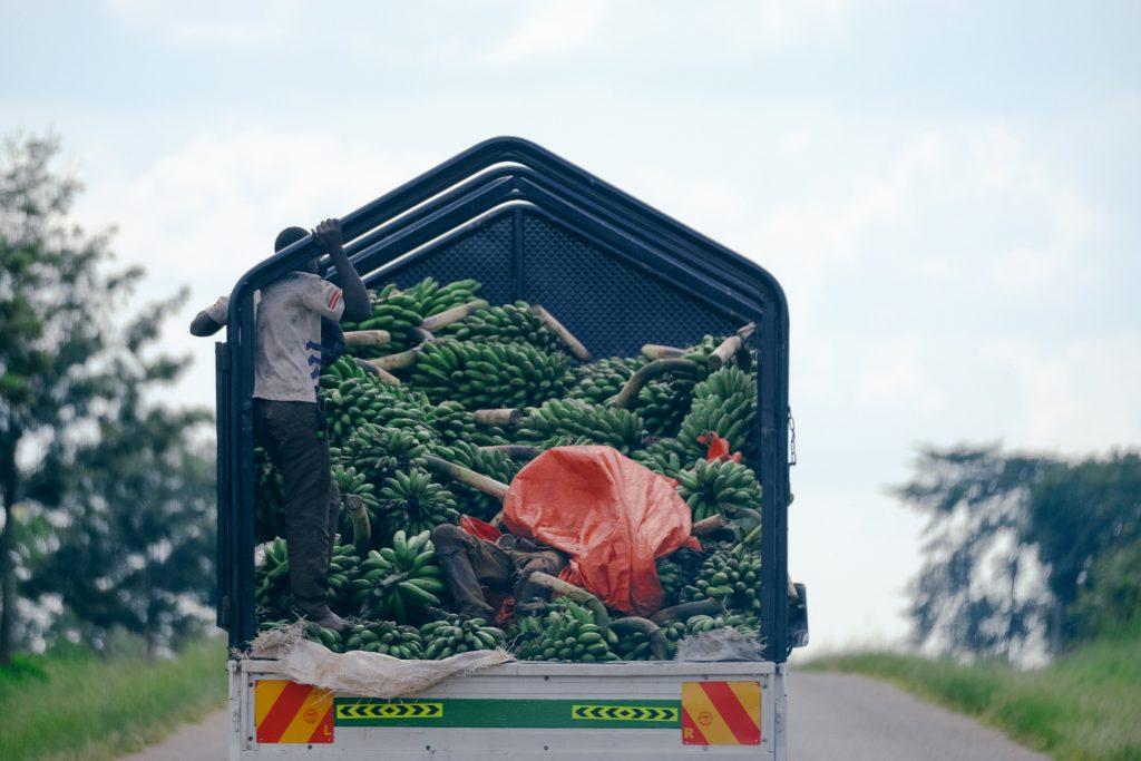 Banana truck Uganda